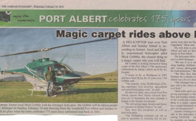 Magic Carpet rides - Port Albert