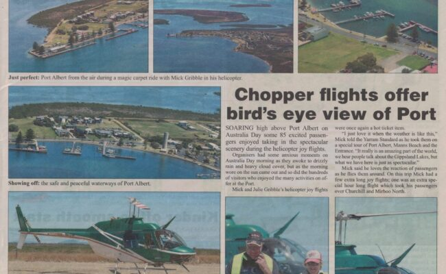 Chopper Flights over Port Albert