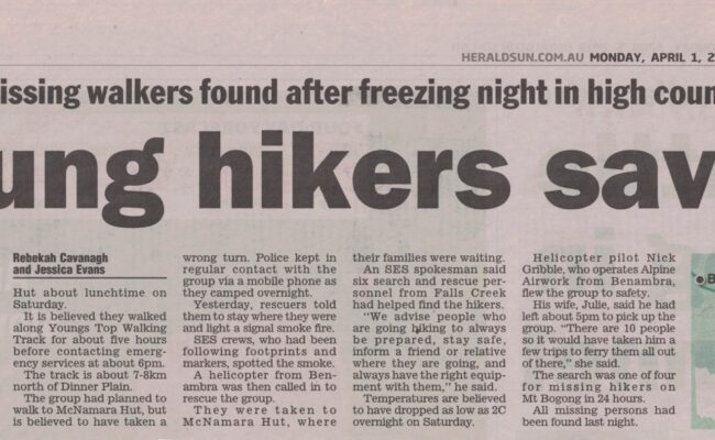 Young Hikers Saved