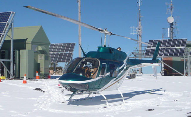 Helicopter Joy Rides in the Snow